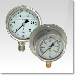 Pressure Gauges, Vacuum Gauges and thermometers supplied in the UK from JH Barclay